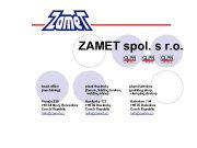 ZAMET spol s r o head office machining
