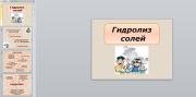 Презентация Гидролиз