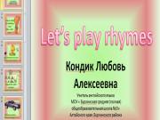 Презентация Рифмовки от 1-10