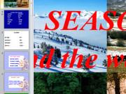 Презентация Времена года и погода