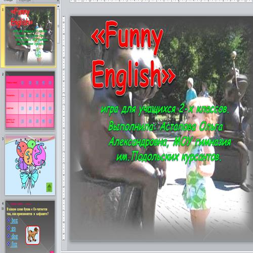 Презентация Funny English