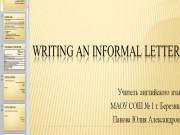 Презентация Написание письма