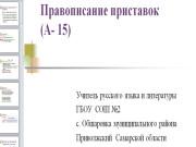 Презентация Правописание приставок
