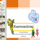 Презентация Животноводство