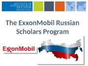 The Exxon. Mobil Russian Scholars Program  Covering