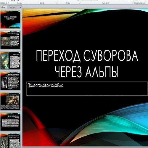 Презентация Переход Суворова через Альпы