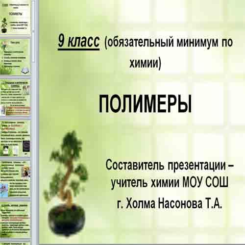 Презентация Полимеры