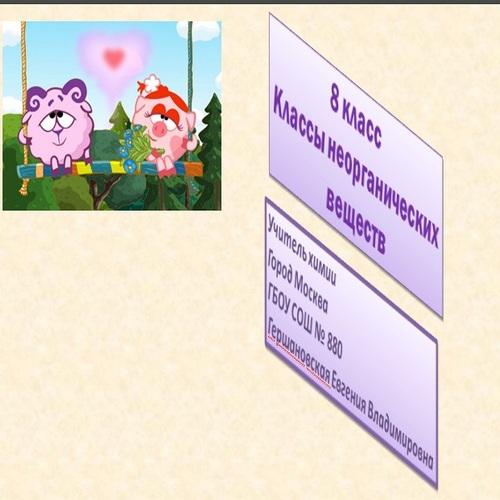Презентация Классы неорганических веществ