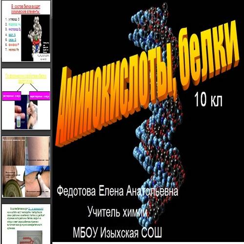 Презентация Аминокислоты, белки