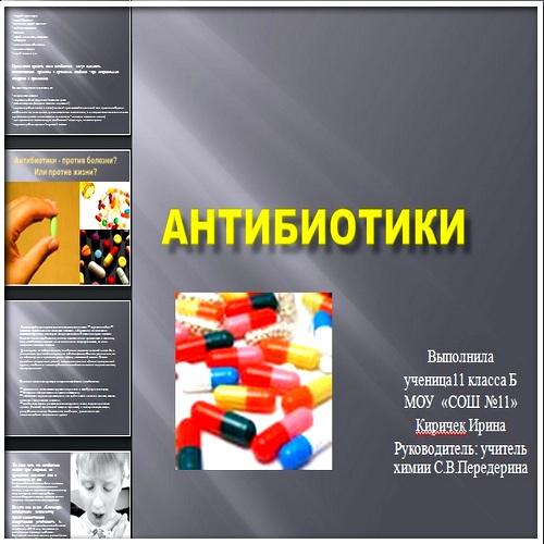 Презентация Антибиотики