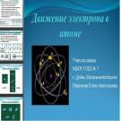 Презентация Движение электрона