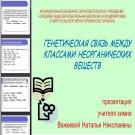 Презентация Генетическая связь