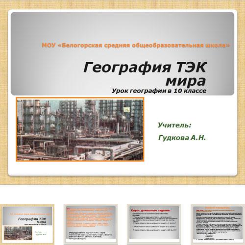 Презентация ТЭК мира