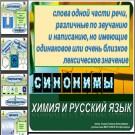 Презентация Химия и русский язык