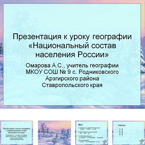 Презентация Национальности России