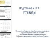 Презентация Подготовка к ЕГЭ. Углеводы