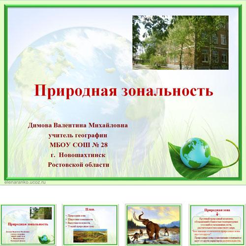 Презентация Природная Зональность