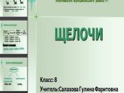 Презентация Щелочи