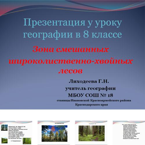 Презентация Зона смешанных лесов