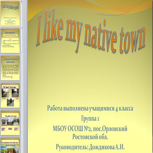 Презентация Родной город