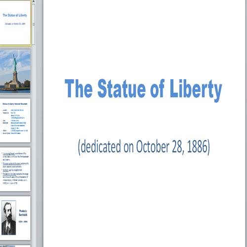 Презентация статуя свободы
