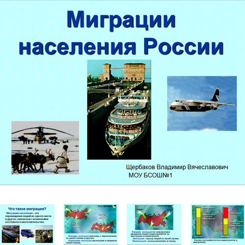 Презентация Миграция населения в России