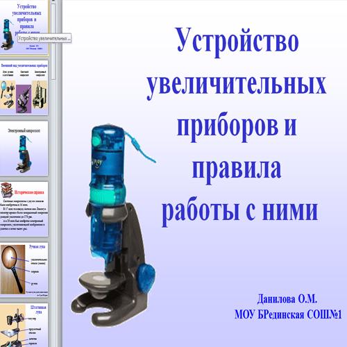 Презентация Микроскоп