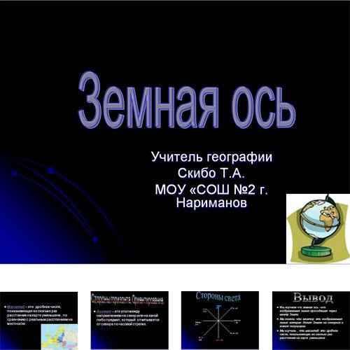 Презентация Ось Земли