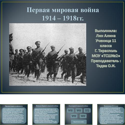 Презентация Первая мировая война 1914-1918