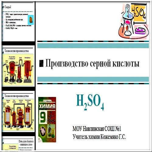 Презентация Производство серной кислоты