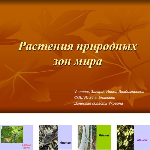 Презентация Растения природных зон