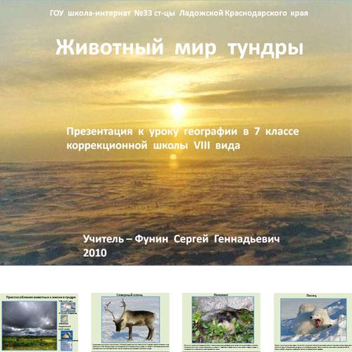 Презентация Животные тундры