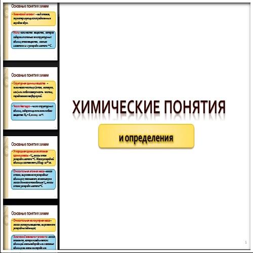 Презентация Химические понятия