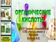 Презентация Органические кислоты