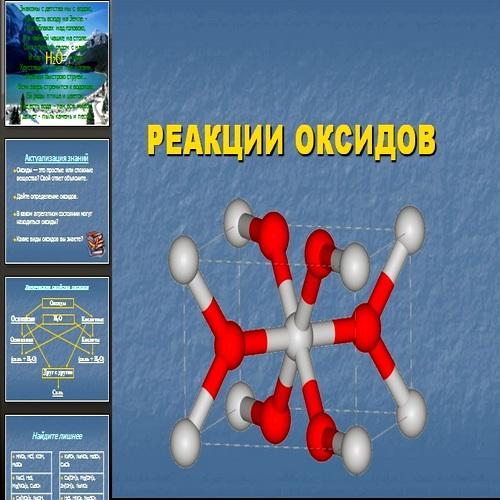 Презентация Реакции оксидов