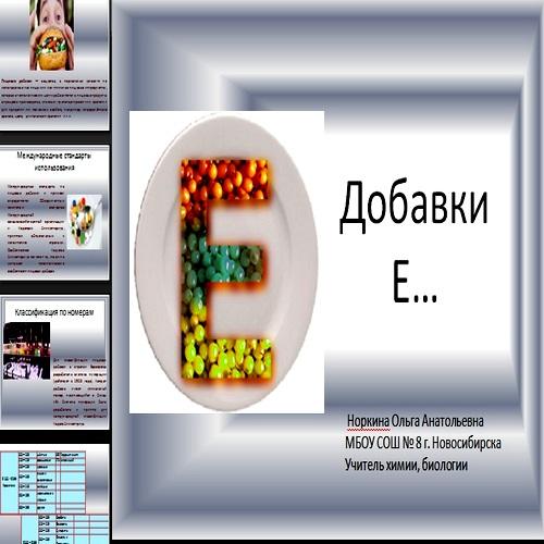 Презентация Добавки Е…