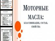 Презентация Моторные масла