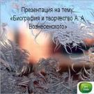 Презентация Вознесенский
