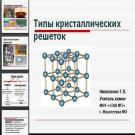 Презентация Типы кристаллических решеток