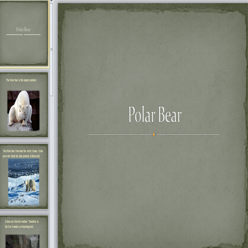 Презентация Полярный медведь