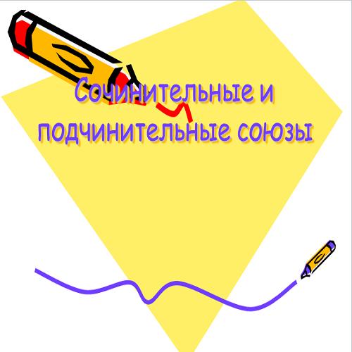 Презентация Союзы сочинительные и подчинительные