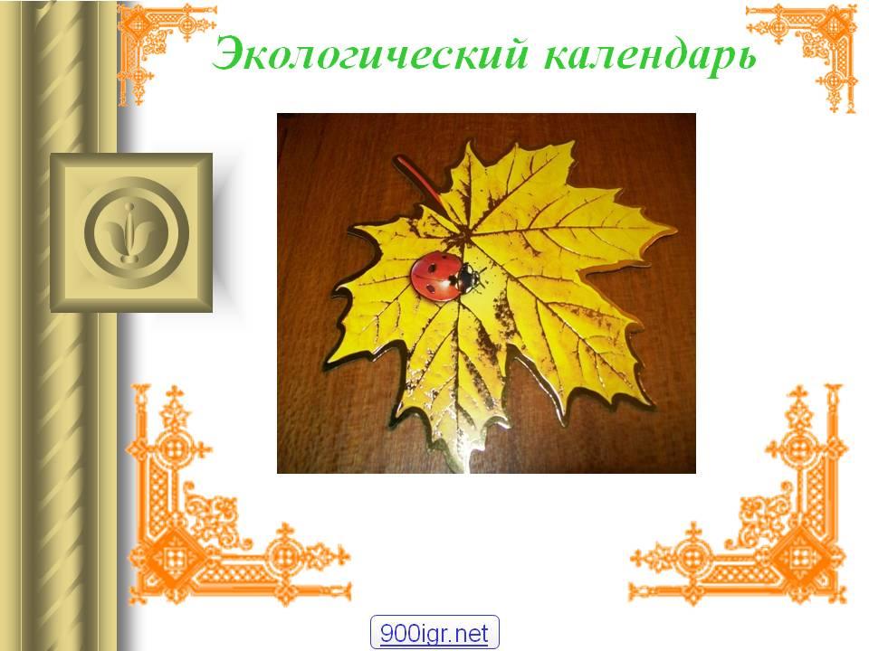 Презентация Экологический календарь