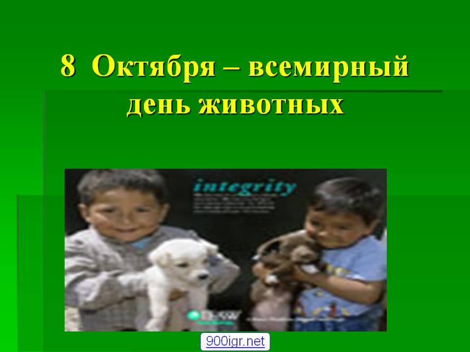 Презентация Всемирный день животных
