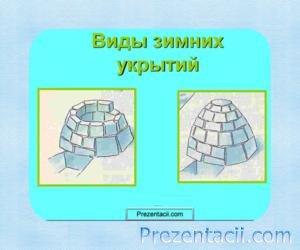Презентация Виды зимних укрытий