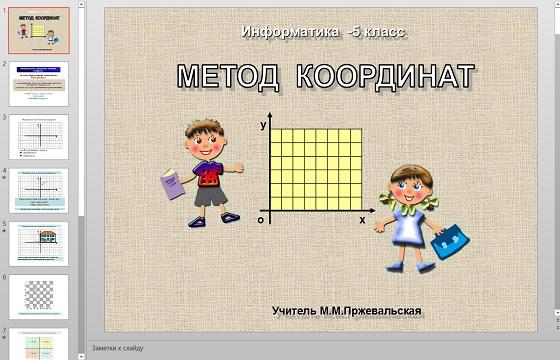 Презентация Метод координат
