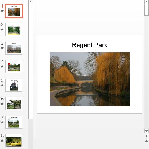 Презентация Parks of London
