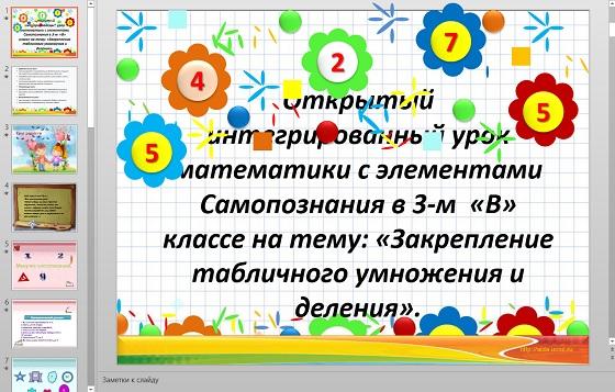 Презентация Закрепление таблицы умножения и деления