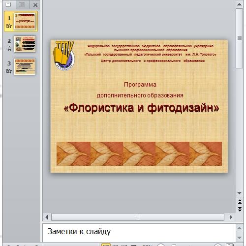 Презентация Флористика и фитодизайн