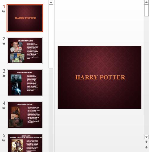 Презентация Гарри Поттер