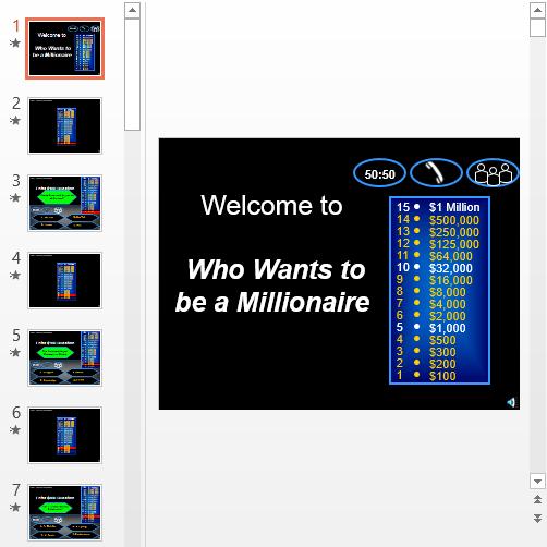 Презентация Кто хочет стать миллионером